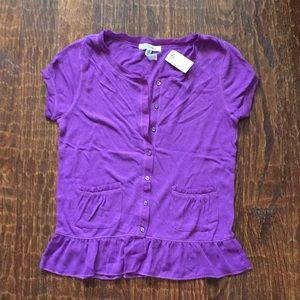 Aeropostale button-front shirt with sheer trim